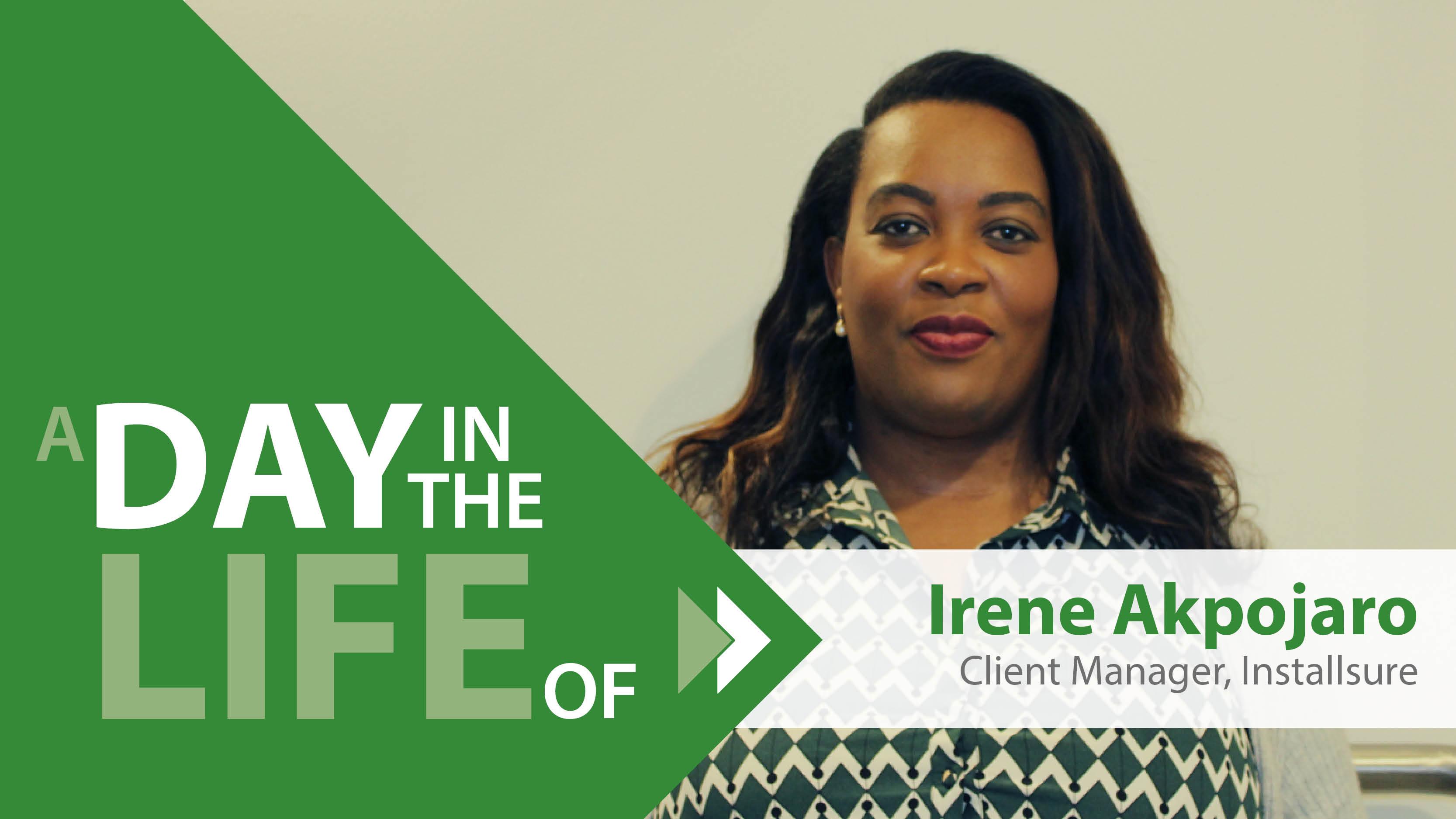 Irene Akpojaro Client Manager Installsure
