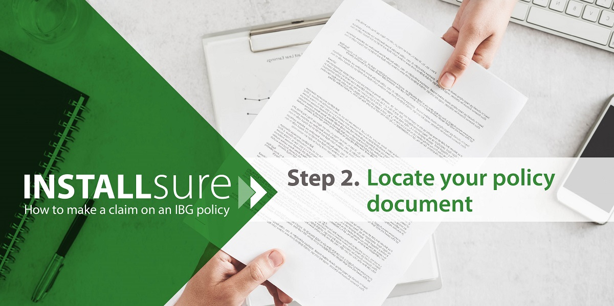 Installsure how to make a claim policy document